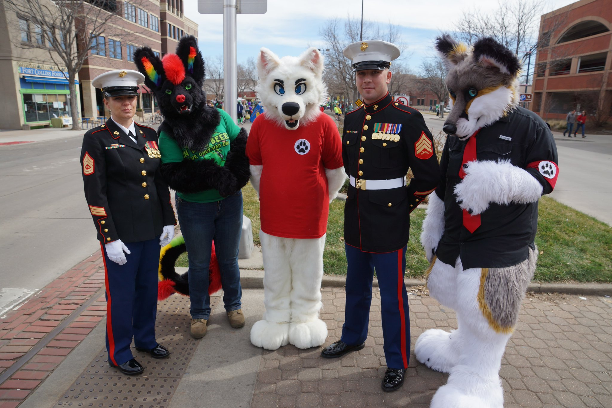 Furry Raiders On Twitter Quot Dancing With The Leprechauns At Fort Collins St Patrick S Day Parade