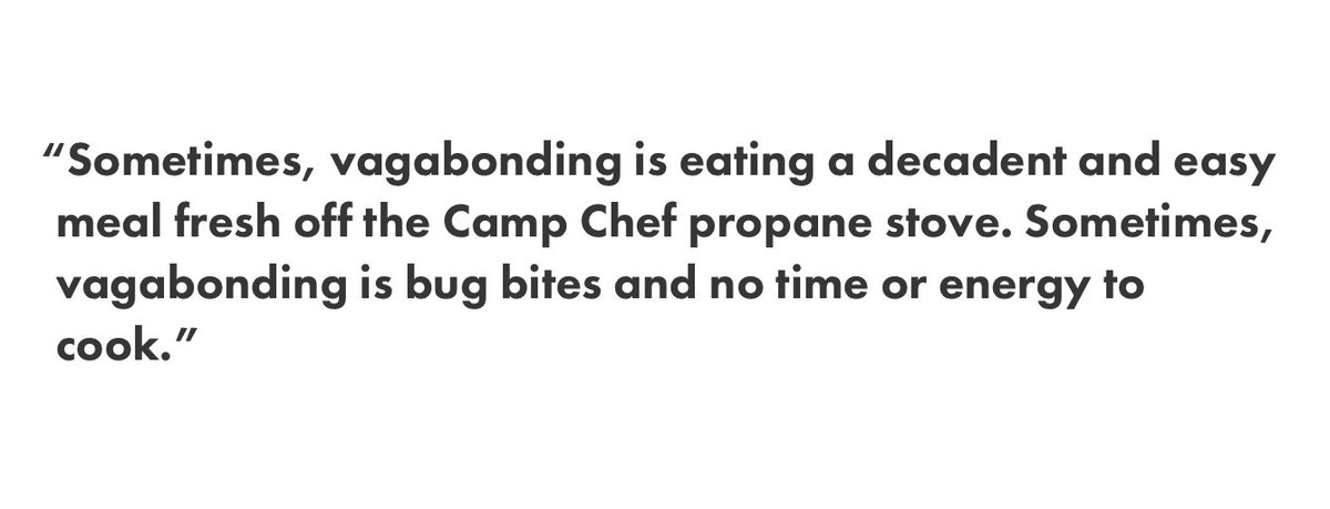 limbo magazine on twitter diary entries from a summer of glamping read the vagabond kitchen here httpstco5ds49qwejx httpstcoxvxukxzsa2 - Vagabond Kitchen