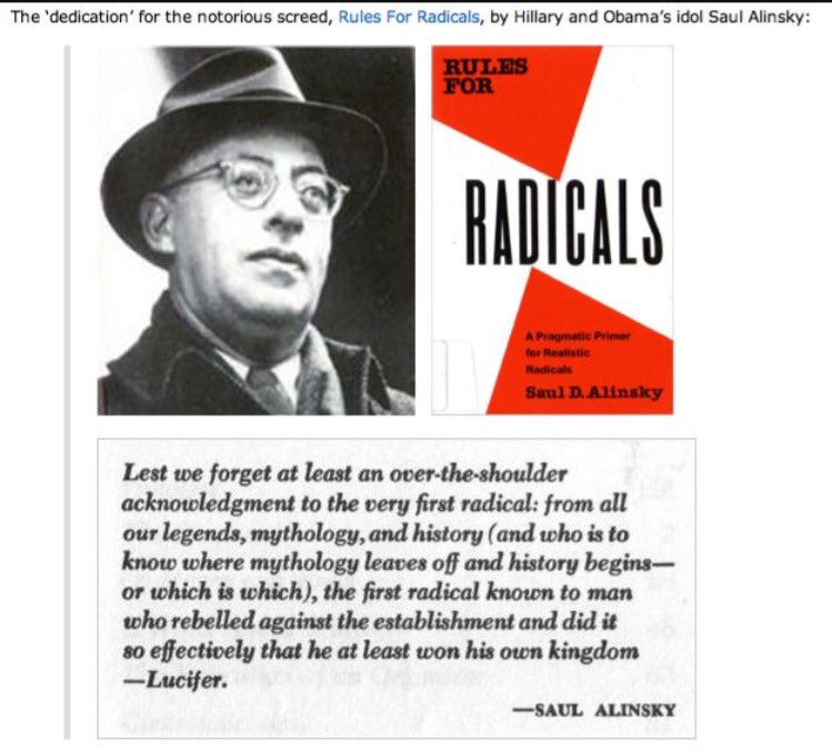 Image result for rules for radicals lucifer