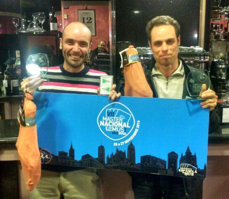 Luis Prieto Atanes y Pablo Diéguez Iglesias, Campeones del IV Torneo de Mus Milanés