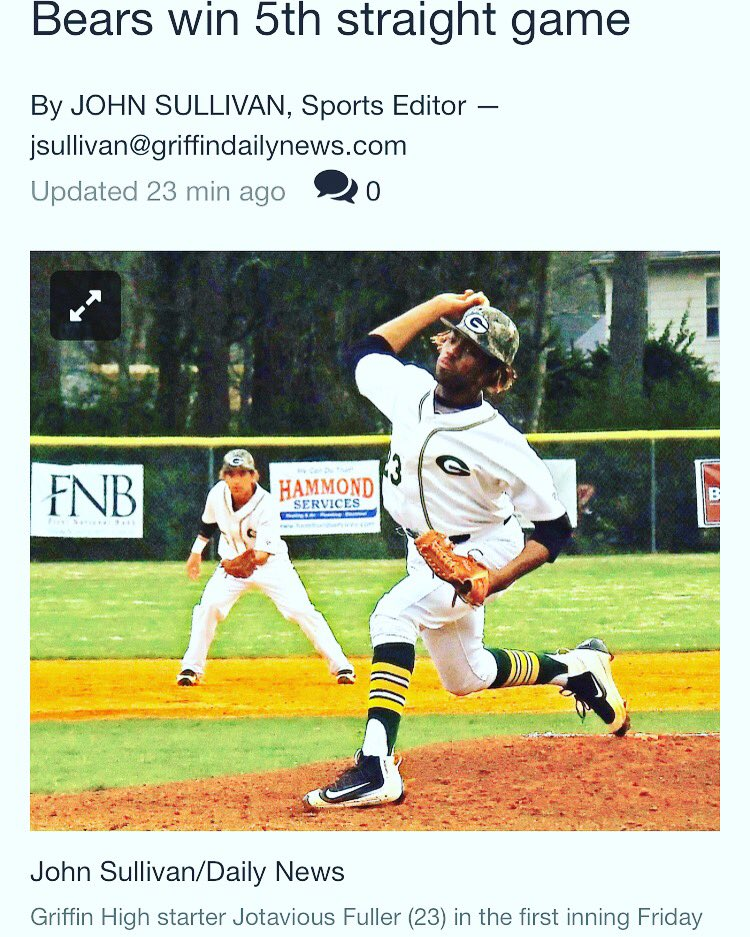Griffin Baseball on Twitter: