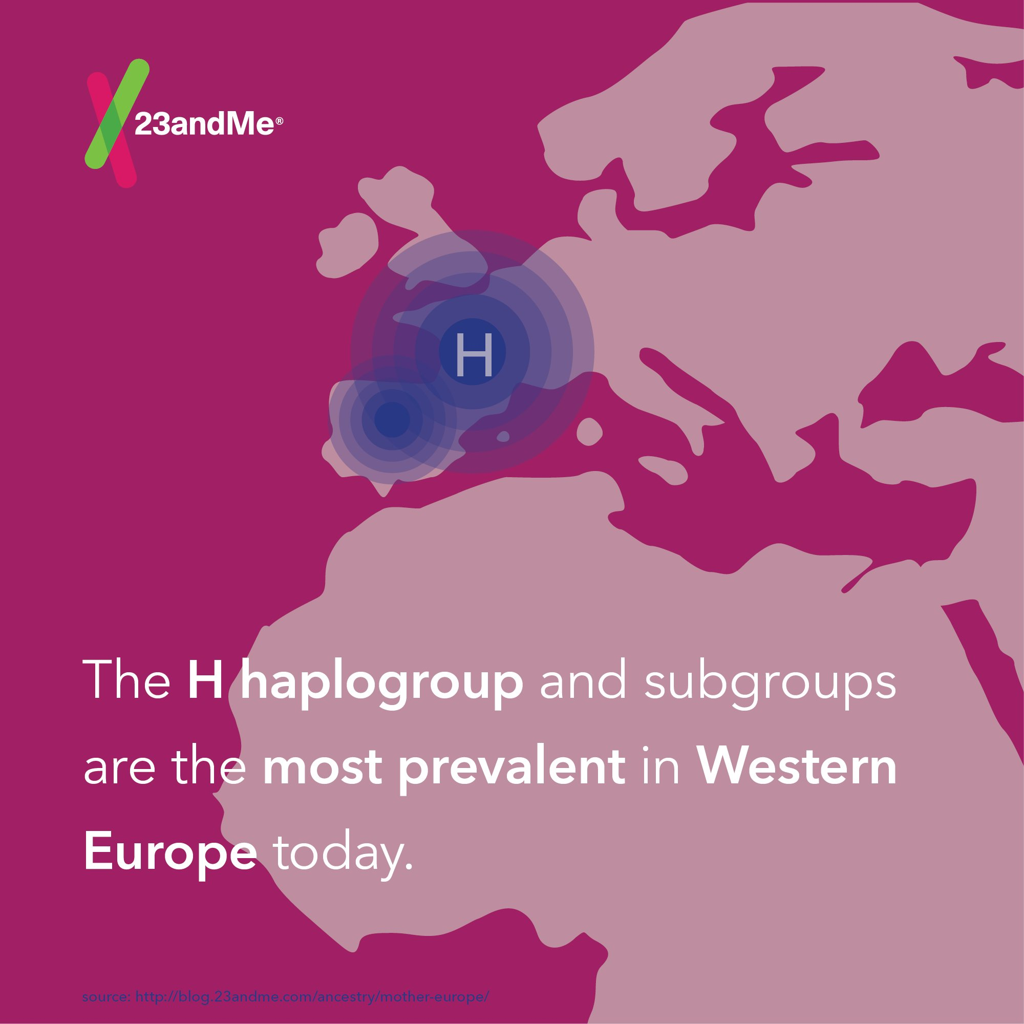 haplogroup h Among the famous whose dna has been tested is marie antoinette, who belonged to maternal haplogroup h (along with about half of all europeans) katie couric (maternal haplogroup k) is genetically linked to a 5,000-year-old iceman whose body was recently discovered in the alps and jesse james.