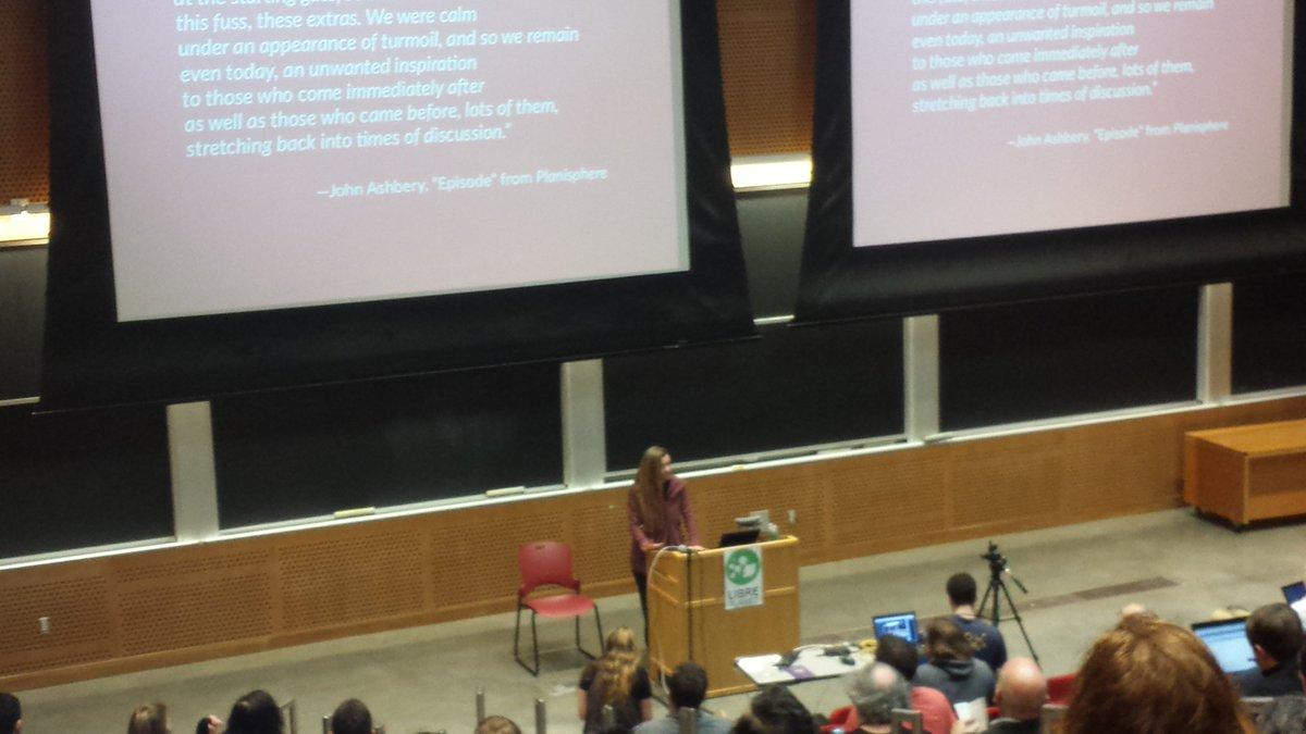 OSI President @allisonrandal starting up her keynote at #LibrePlanet. https://t.co/t1sSKEiDHz