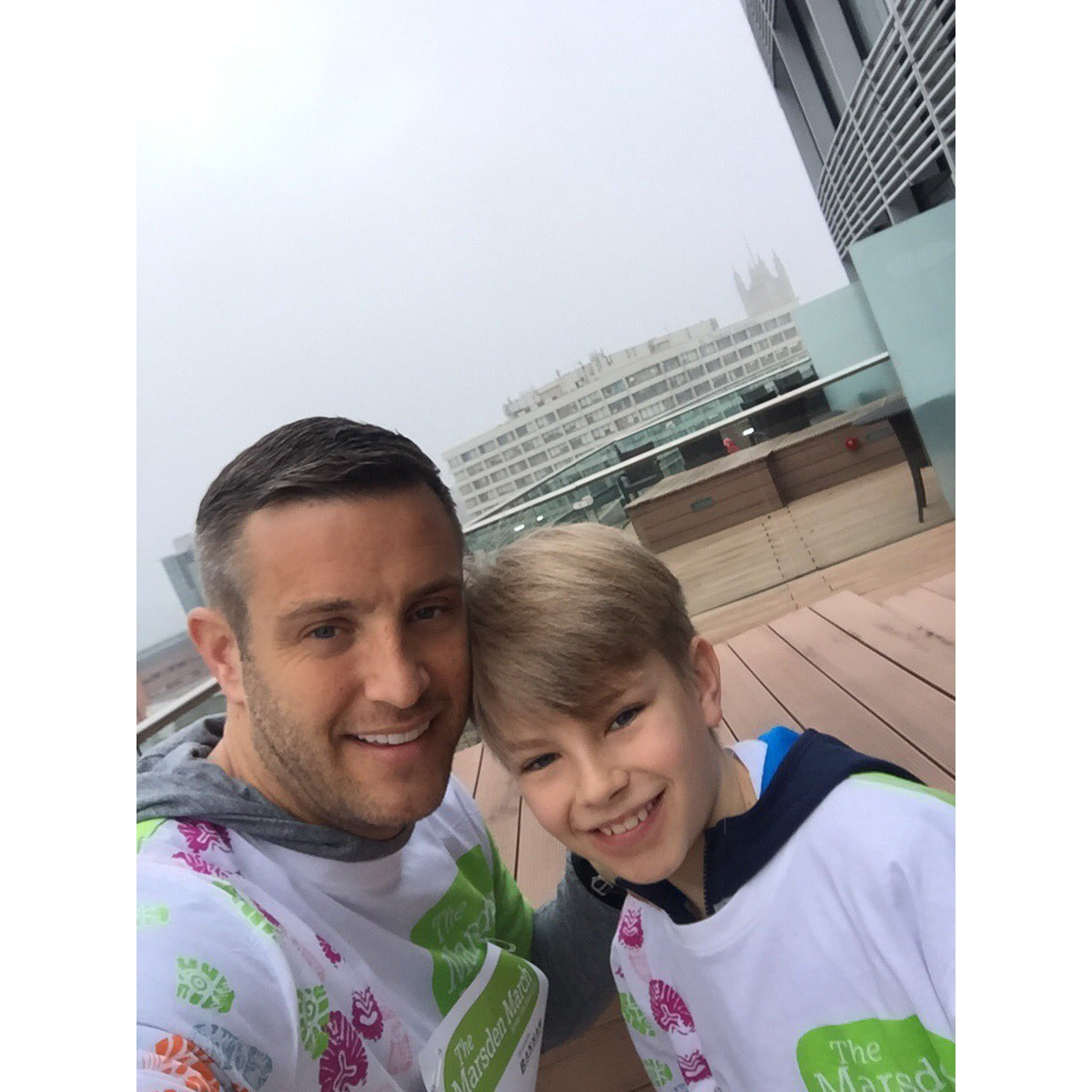 Up early to support my dad on the #MarsdenMarch thanks @parkplazahotels #westminsterbridge for a great nights sleep! https://t.co/vG8Ob5ZoFc