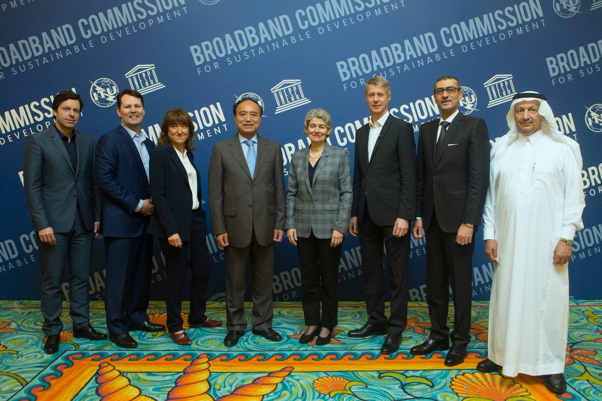 A very warm welcome to the new #Broadband Commissioners joining @UNBBcom today https://t.co/K178O9mX4q https://t.co/gDMbNdTvZD