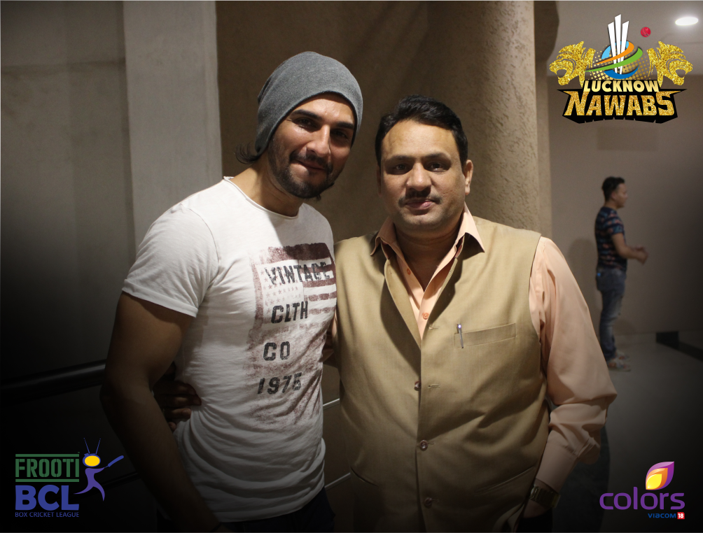 Team Owner Nitin Mishra with the dashing nawab Manish Raisinghani