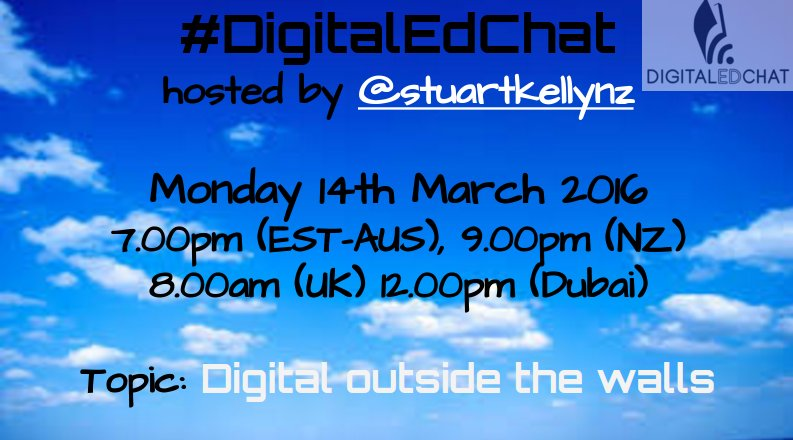 Join us tomorrow for #digitaledchat  #includEDau #aussieED .@edchatNZ #bfc630nz .@ukedchat Global tweeters welcome! https://t.co/MfVV8Yo4Hj