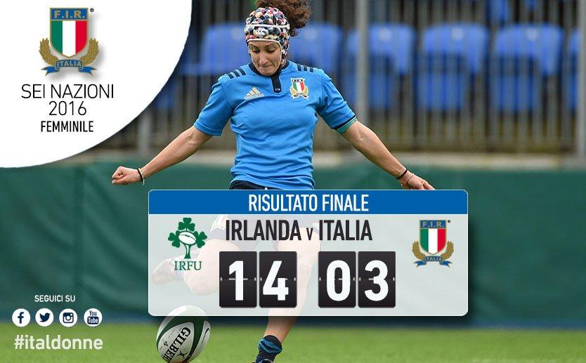 Irlanda Italia Sei Nazioni femminile 2016