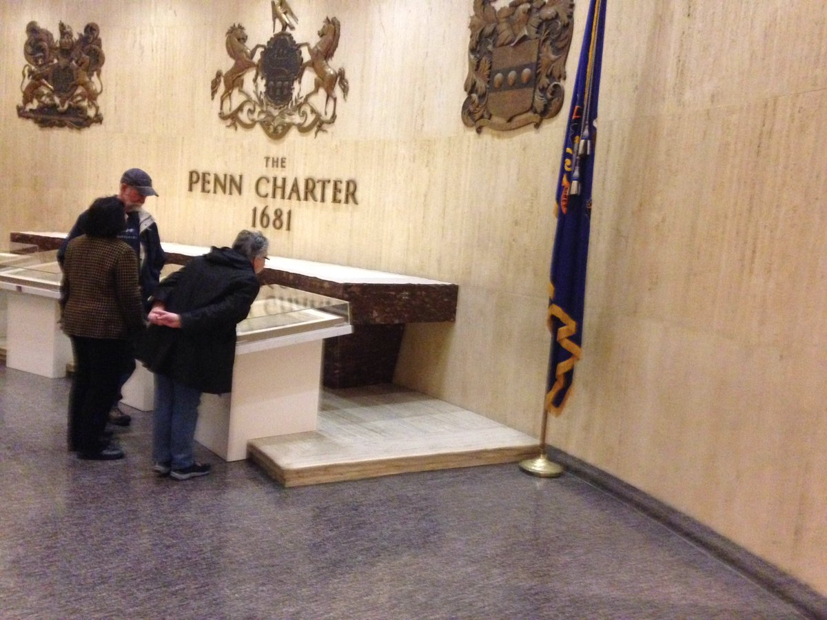 Checking out Penn's Charter @StateMuseumPA .  Charter Day 12-4 pm today.  #pacharter2016 https://t.co/kjEcdKZG5R