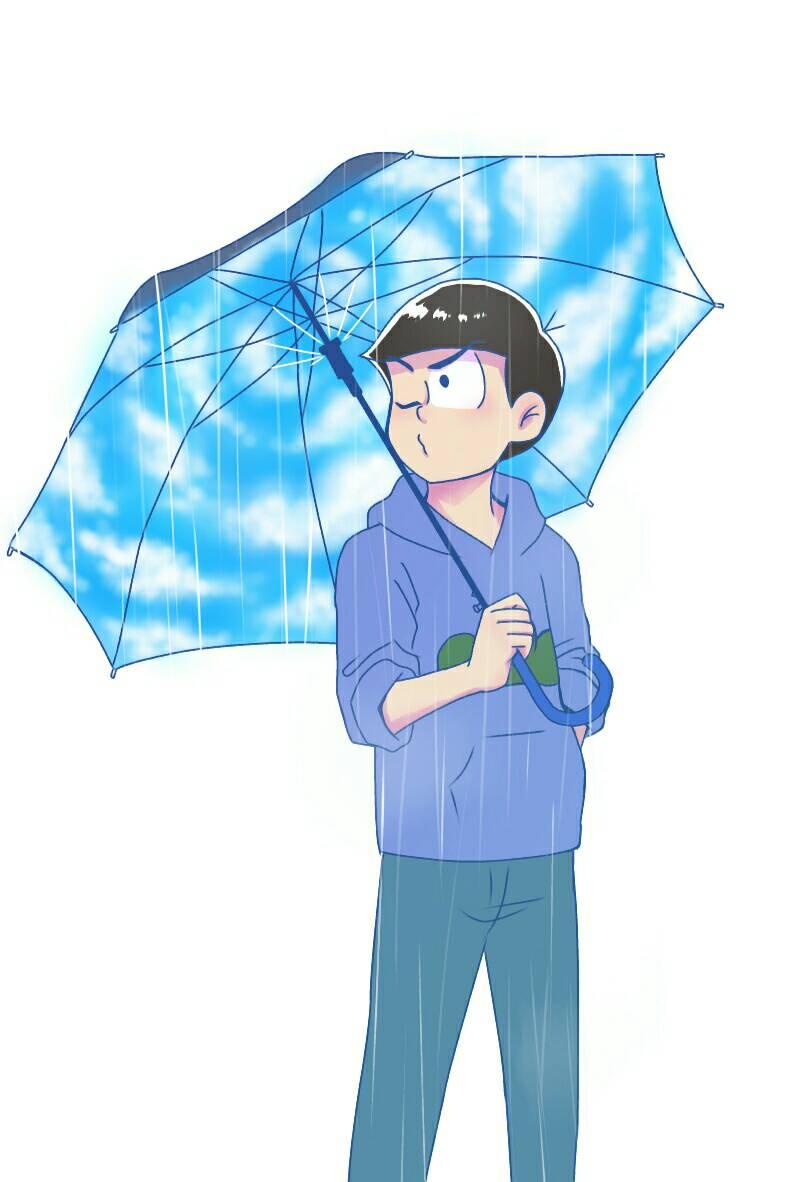 Tweet ダサかっこいい傘をさすカラ松の厳選イラスト漫画