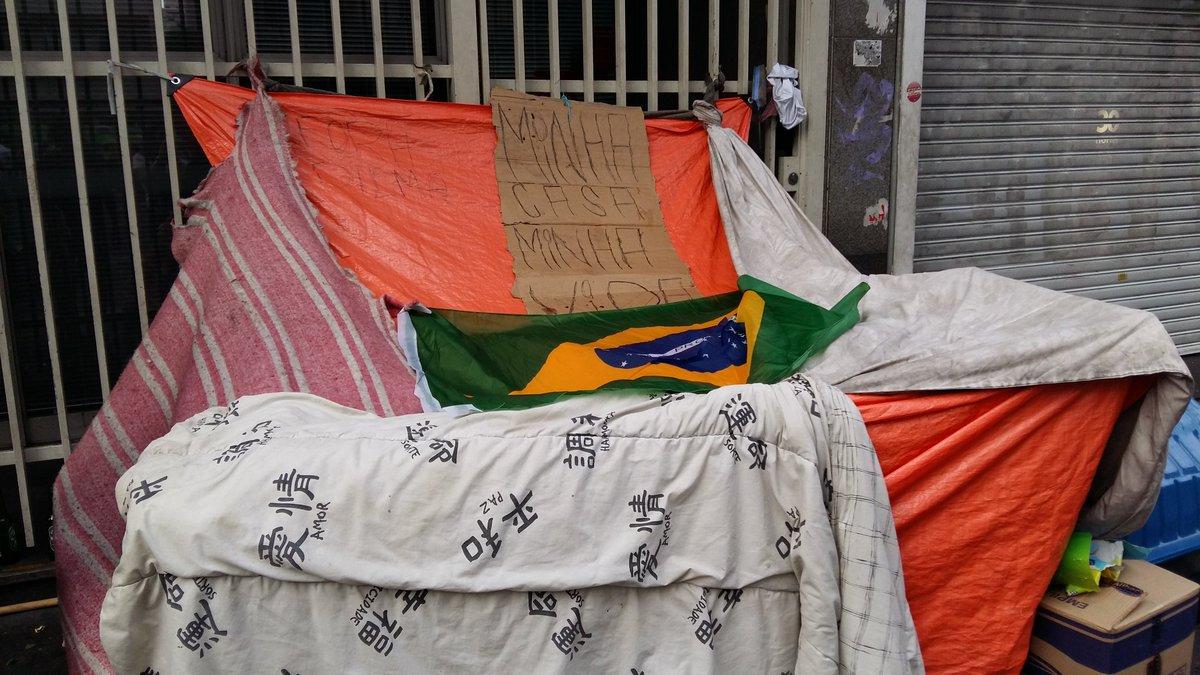 "Moradora de rua diz ""Fora Dilma"" na Av. Paulista #ExameNoProtesto https://t.co/pNl8x5xHzA"