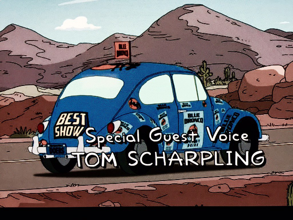 Completely floored @scharpling @jonwurster on #TheSimpsons!& the @bestshow4life giant sticker on the car! CONGRATS https://t.co/y7DD9IyDrS