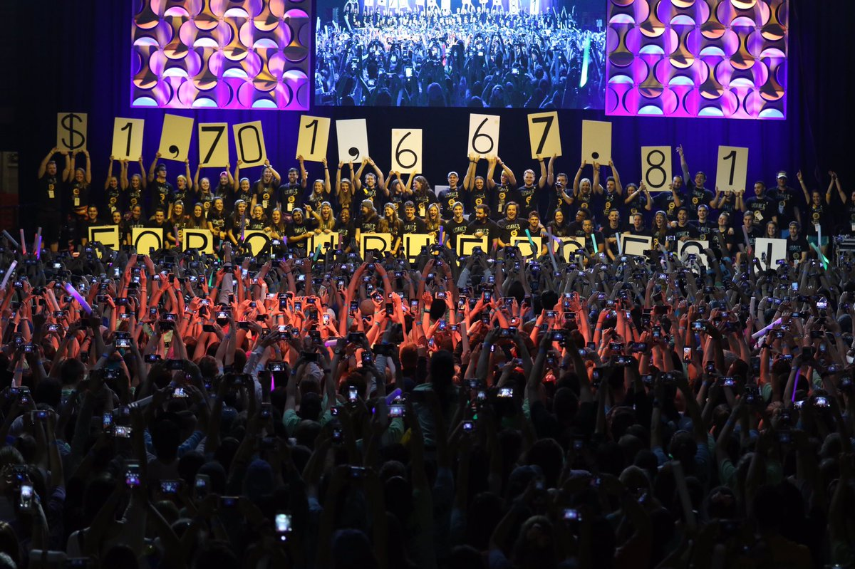 And the grand total raised to fight childhood cancer at #UDance2016 is.... https://t.co/TnLdb0aRml