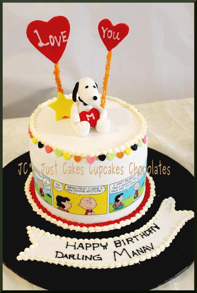 Tremendous Jessie Gurbani On Twitter Charliebrown Snoopy Snoopycake Personalised Birthday Cards Paralily Jamesorg