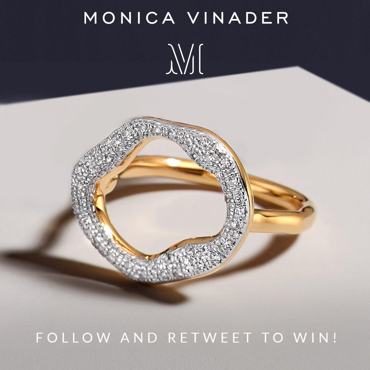 Follow us & RT to #win a new @MonicaVinader Riva Diamond Circle Ring! T&C's Apply: https://t.co/yBkk60QbwD https://t.co/1ZQmvbHGPC