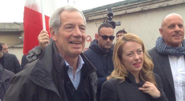 Guido Bertolaso e Giorgia Meloni