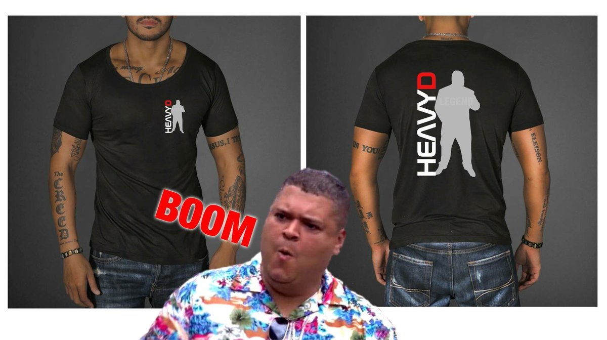 heavy d on twitter who wants an exclusive heavy d t shirt https t co n8nlxsjgzr twitter