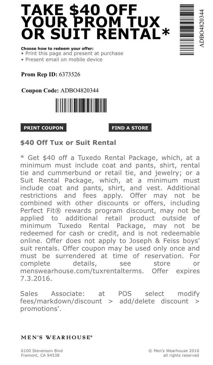 mens wearhouse coupon tux rental