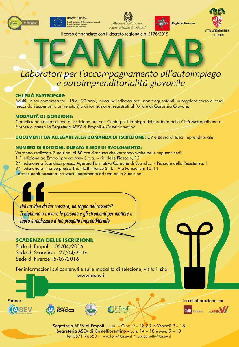 Asev On Twitter 14 3 Iscriviti Al Corso Team Lab E