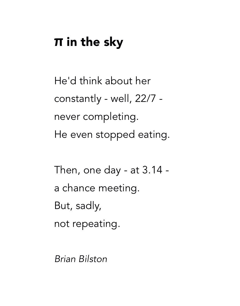 Brian Bilston On Twitter Quot Here Is A Short Poem To