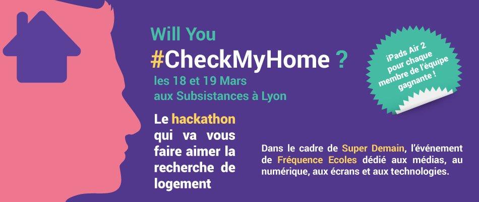 Le hackathon #CheckMyHome c'est les 18 et 19 mars prochain aux @subsistances Inscriptions : https://t.co/PoUpaRcXQe https://t.co/HQ1k7LnJWS
