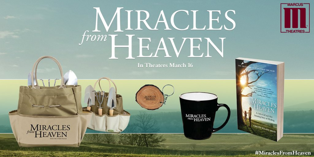 Follow & RT for a chance to #win this #MiraclesFromHeaven prize pack. Click here for tickets https://t.co/rWHo0iY8cX https://t.co/JGWsVGhxSL