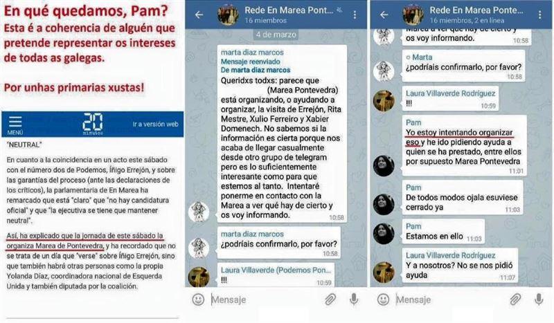 """Bases Podemos denuncia """"trampas"""" en las primarias de Galicia por la visita de Errejón https://t.co/Jv0U07VU44 https://t.co/pkgy6HQX9B"""