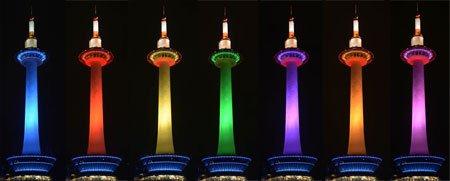 [京都新聞]京都タワー七変化 LED照明始まる https://t.co/iScINR2cYL https://t.co/aCxbWXlTvo