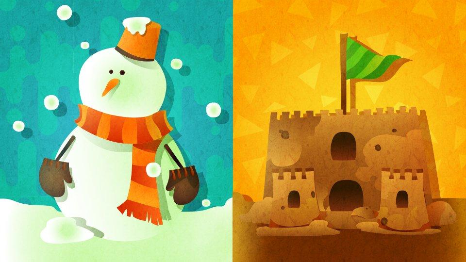 [北米] 第12回 「作るならどっち? 雪だるま vs 砂の城」