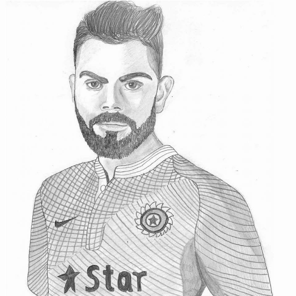 Cricfit On Twitter A Pencil Sketch Of Virat Kohli By One