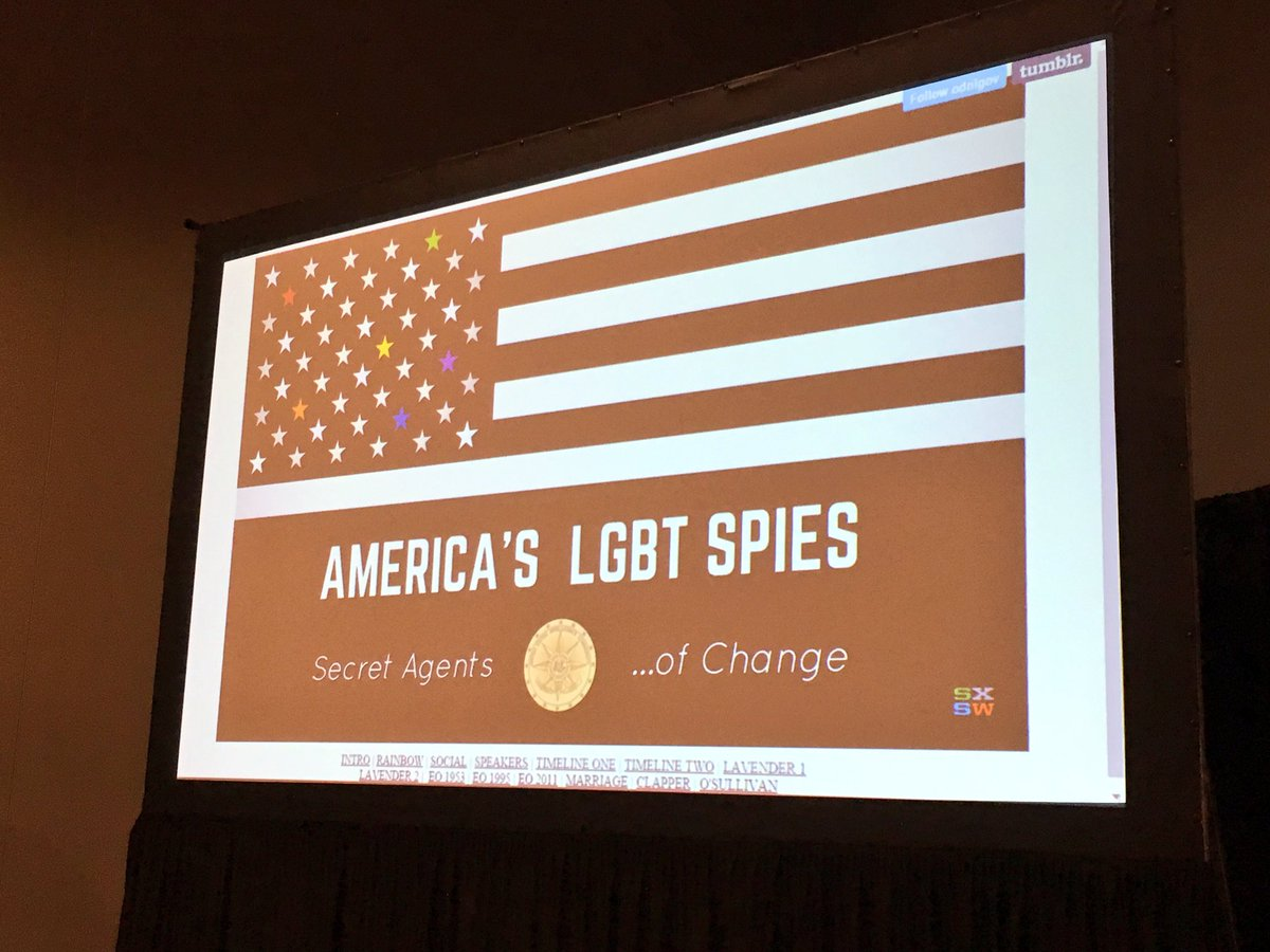 """We're ready to roll.  Stay tuned for live coverage of """"Secret Agents of Change, America's #LGBTspies @sxsw https://t.co/GLiuX5tF7f"""