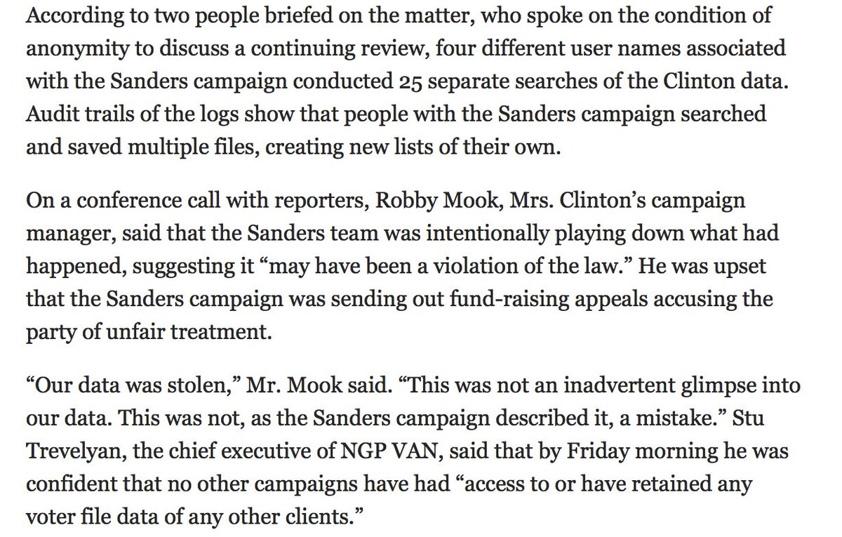 Sanders campaign's data theft was, + remains, a BFD. (via NYT) @Clintonista1 @skookerG @KevinDarryl @Lee_in_Iowa https://t.co/A9lBpWed2r