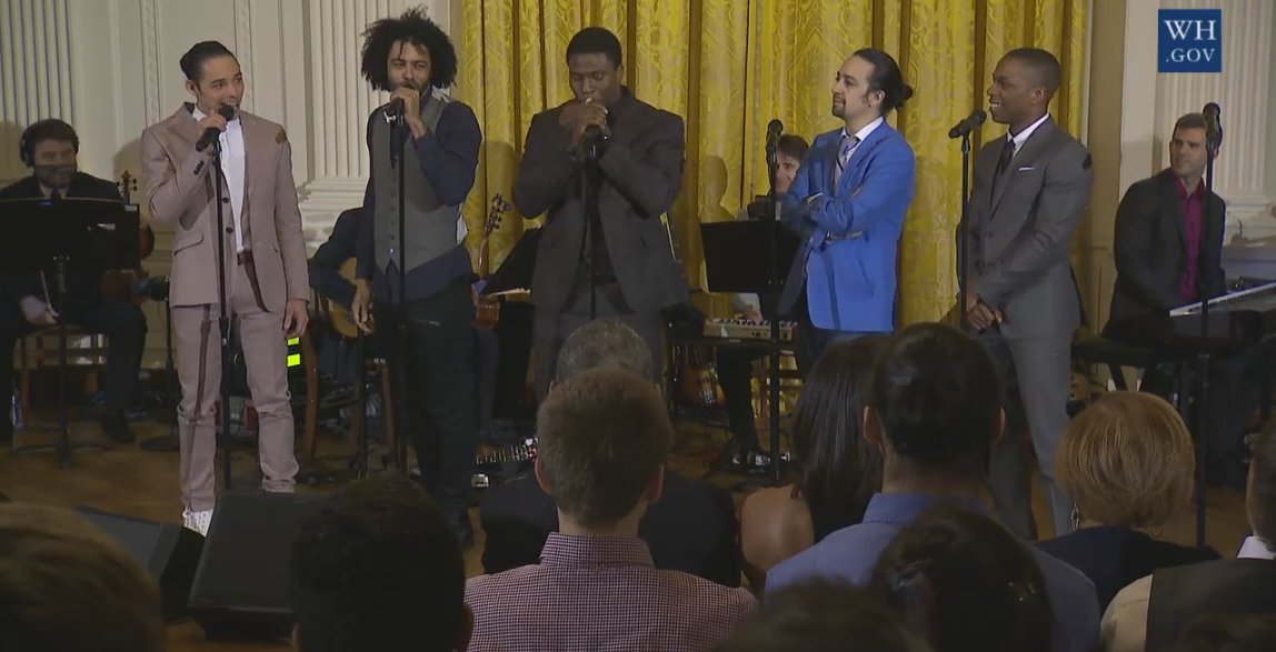 Missed @HamiltonMusical's #Bam4Ham performance at the @WhiteHouse? We recorded it! Watch: https://t.co/XZIGGld92O https://t.co/l83dzQt0p2