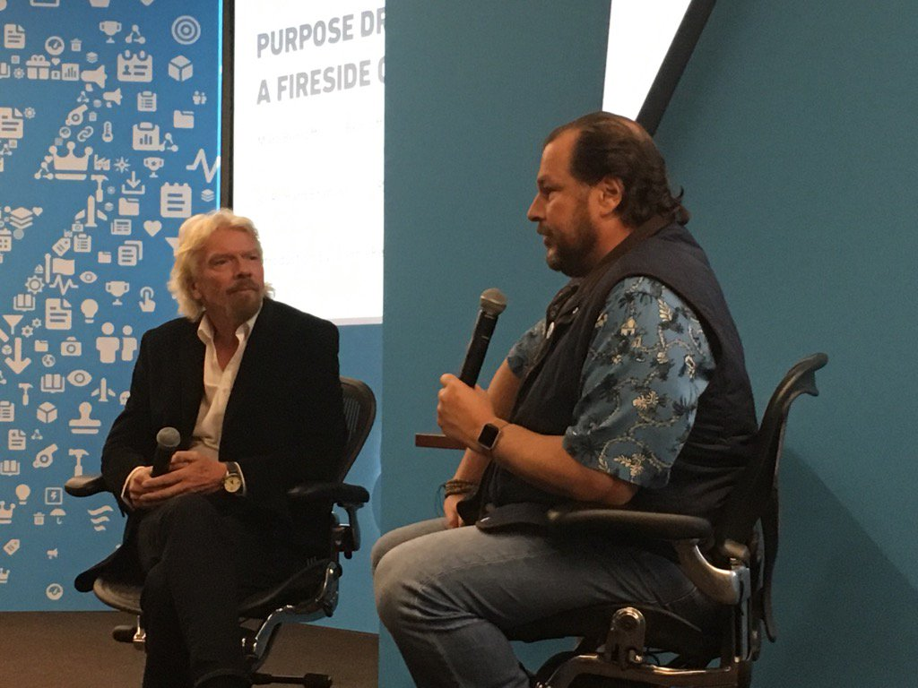 Amazing fireside chat on Purpose Driven Leadership with @Benioff and @richardbranson #BornB https://t.co/Ud7VCE35FG