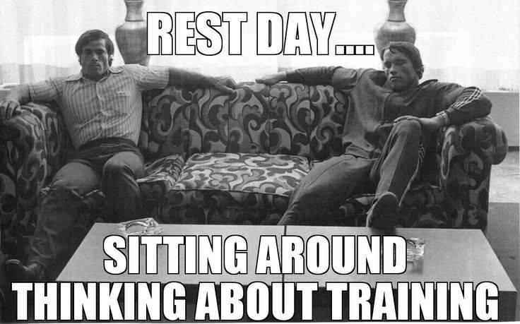 #Fitfam  Rest Day... sitting around thinking about training! RT if you agree!! #Fitspo  #GetFITnLEAN