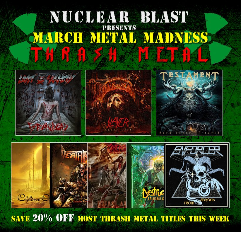 THIS WEEK ONLY: Save 20% OFF most thrash metal titles at https://t.co/pJhCpGaqQf. Ships worldwide! https://t.co/KtXHH66OnP