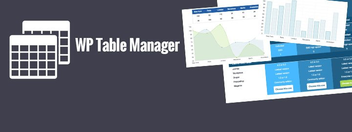 WP Table Manager Plugin: Create Tables & Charts With WordPress https://t.co/XcY1IyyApu #WordPress https://t.co/RT2yWAxhrN
