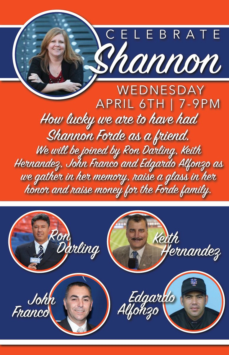 Join us for a special night at Foley's, remembering Shannon Forde - Wednesday, April 6th 7-9pm https://t.co/fN9lAqTq1c