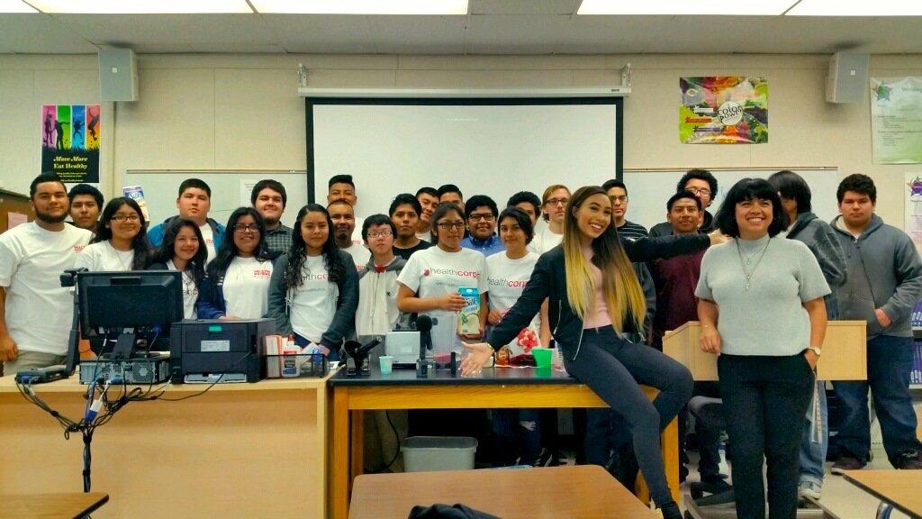 THANKS Eva Gutowski for coming out to Valley High School, CA! @lifeaseva #mylifeaseva #wearehealthcorps https://t.co/pxCpUXIOsG