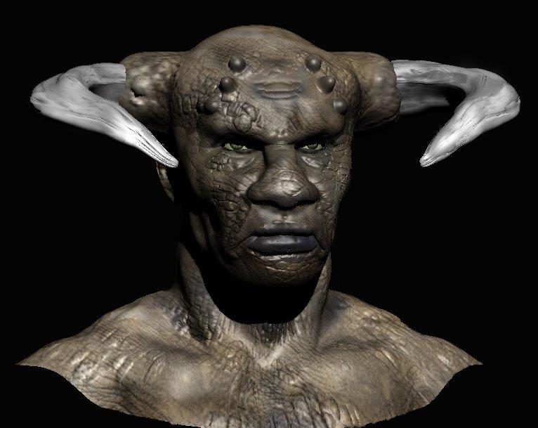 Black man sculpting in  MeshMolder CdiePdlXIAEcTiE
