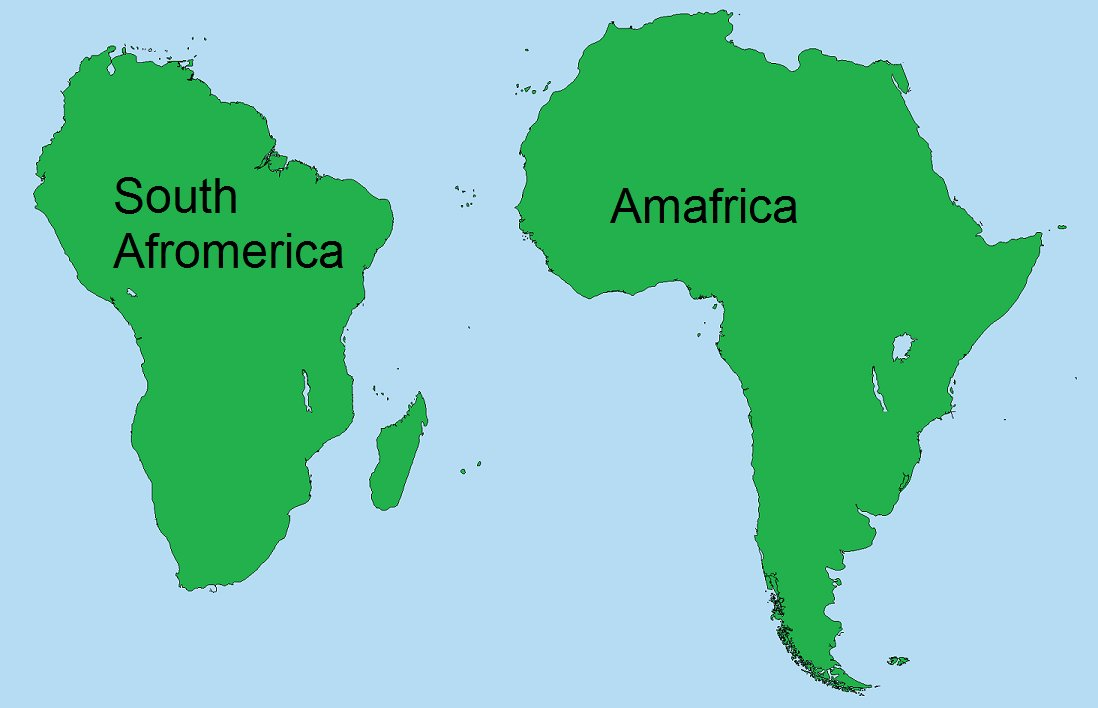 africa and america map Terrible Maps On Twitter What It Would Look Like If The Southern africa and america map