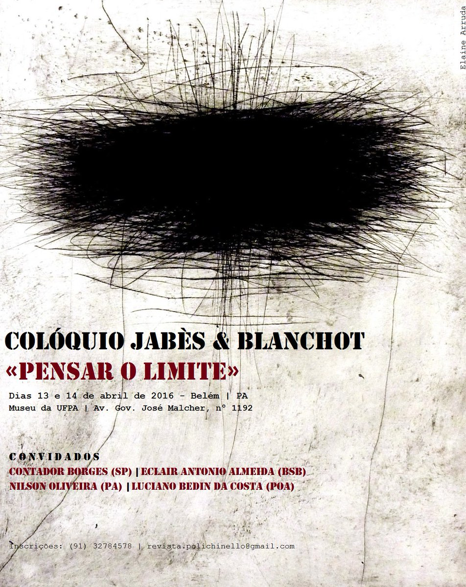 Colóquio Jabès & Blanchot  : «pensar o limite»