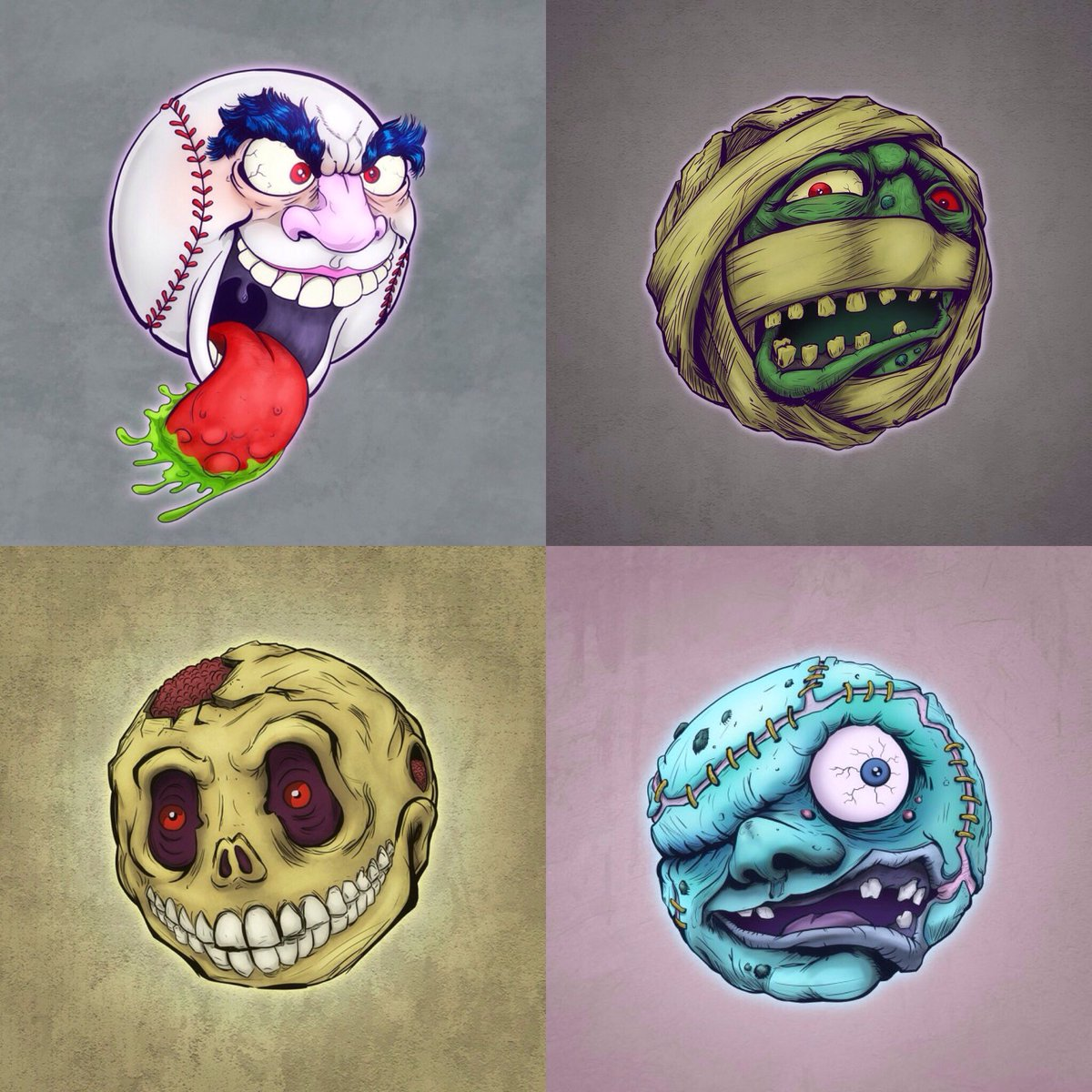#Madballs series 1. All pencils by @FakeEyes22. Digital inks and colors by me. Hope you all enjoyed this collab. https://t.co/rskSEAcRxw