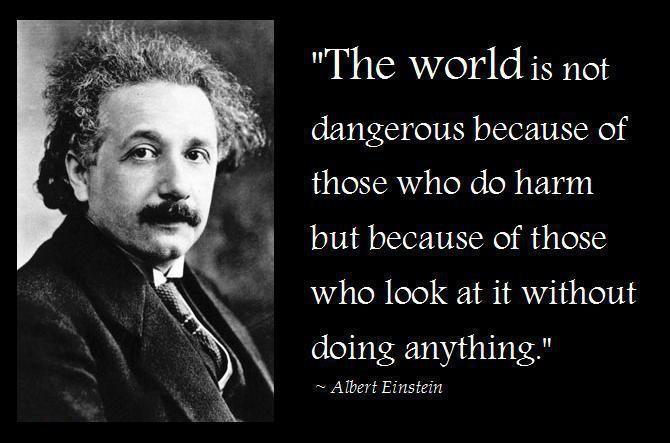 Very timely words from a great soul...Happy Birthday to Albert Einstein. https://t.co/Wm8zX0H5T8