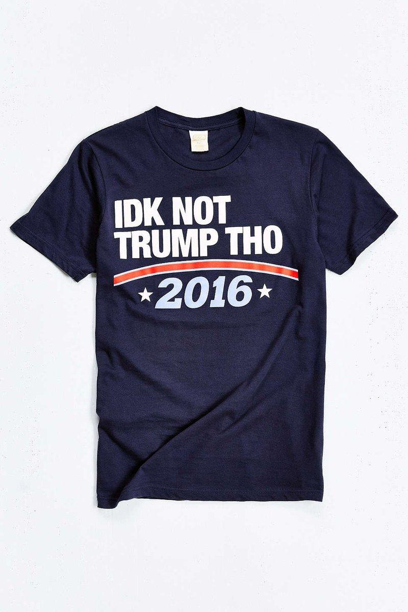 "The ""IDK Not Trump Tho"" Tee dropped via @UrbanOutfitters  SHOP HERE: https://t.co/oQqQ5mQ5wU https://t.co/D6HpkZ05t8"