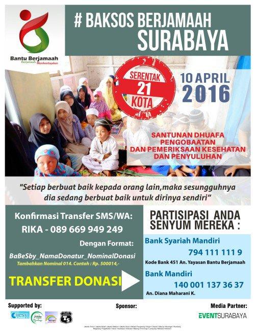Event Surabaya On Twitter Baksos Berjamaah Serentak 21 Kota Di