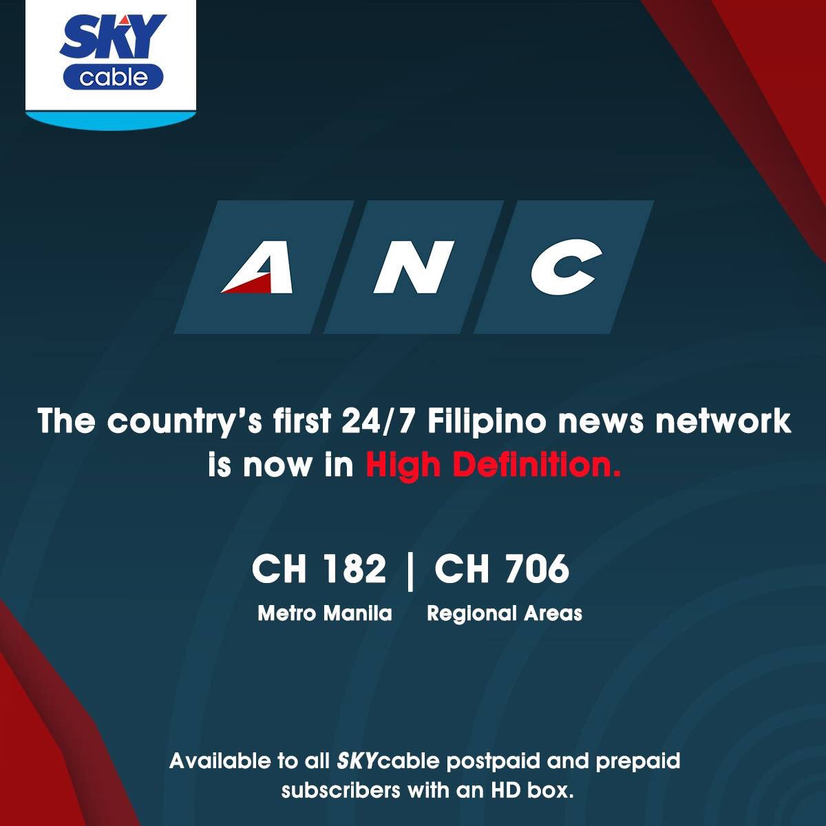 Sky On Twitter Starting Today Ancalerts The Country S First 24 7 Filipino News Network Is Now In Hd Https T Co Frhsst1pnd Https T Co W2fkhlrwok