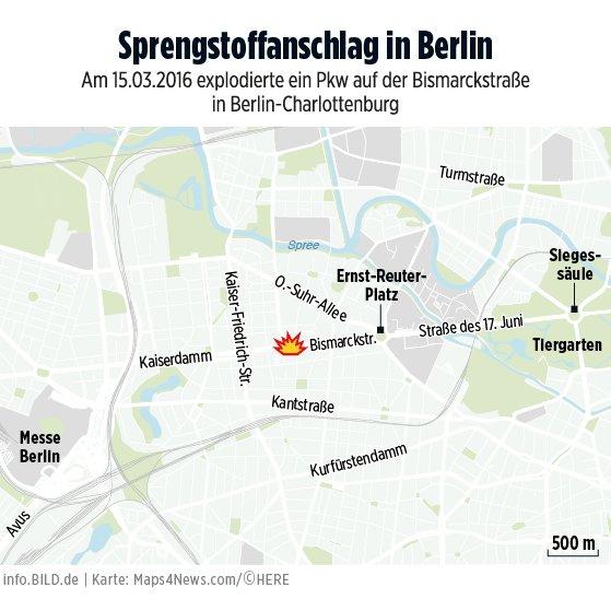 BILD: RT infoBILD: Hier explodierte der Pkw in Berlin #Charlottenburg https://t.co/VPoeB2LF6Z #BILD