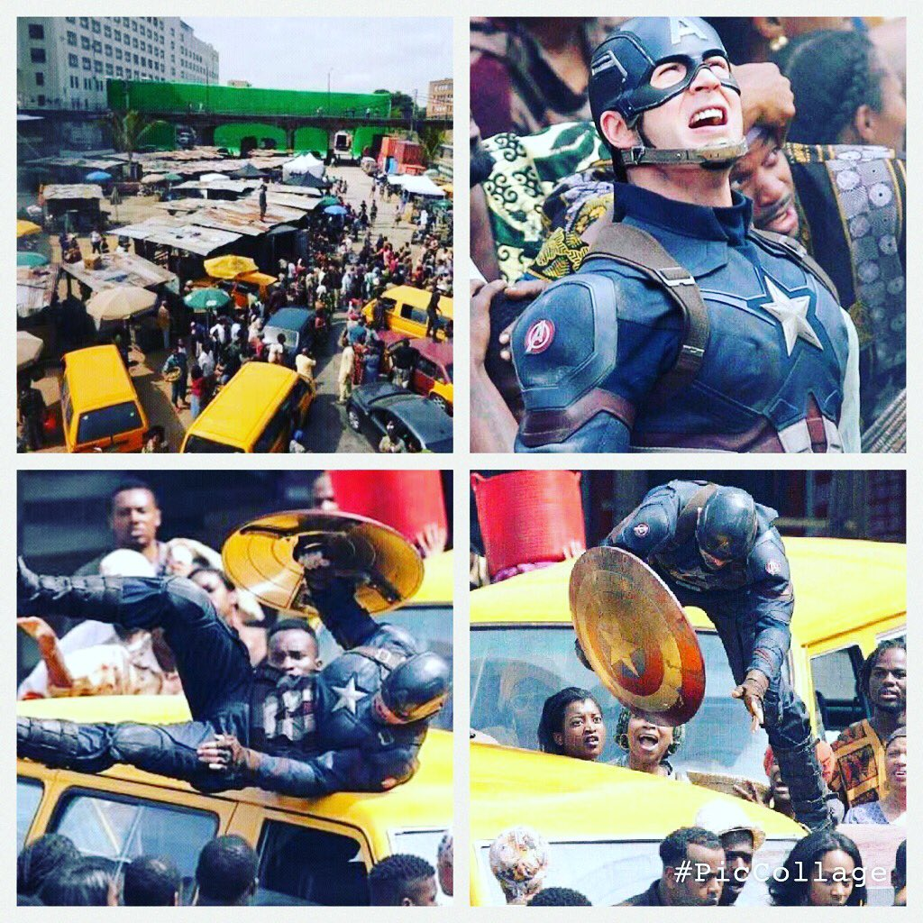 Salute to @marvel putting #captamerica #civilwar scenes in lagos (shot in Atlanta)next time come over #onelagos rt https://t.co/8RpvDYW6bT