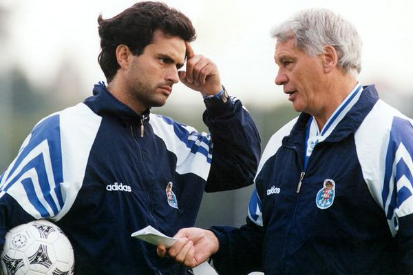 """90s Football en Twitter: """"Sir Bobby Robson and Jose Mourinho at Porto.  https://t.co/xId0F9uwrr"""""""